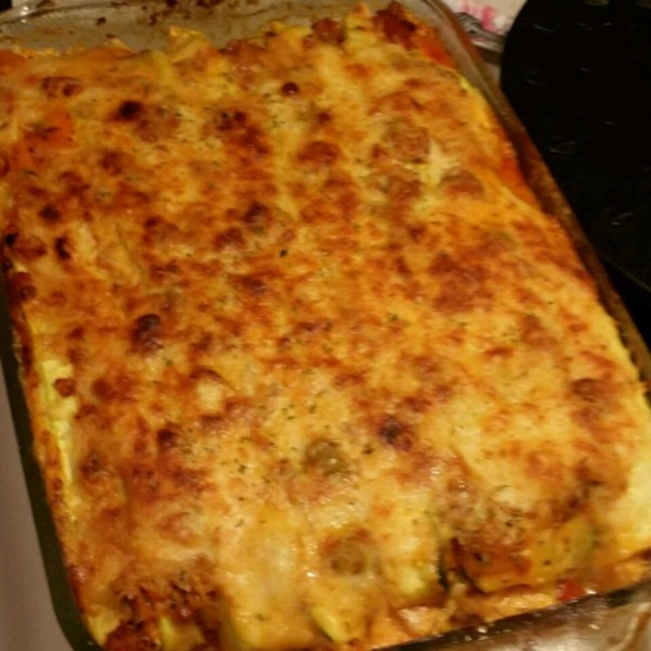 zucchini lasagna with beef and sausage photos