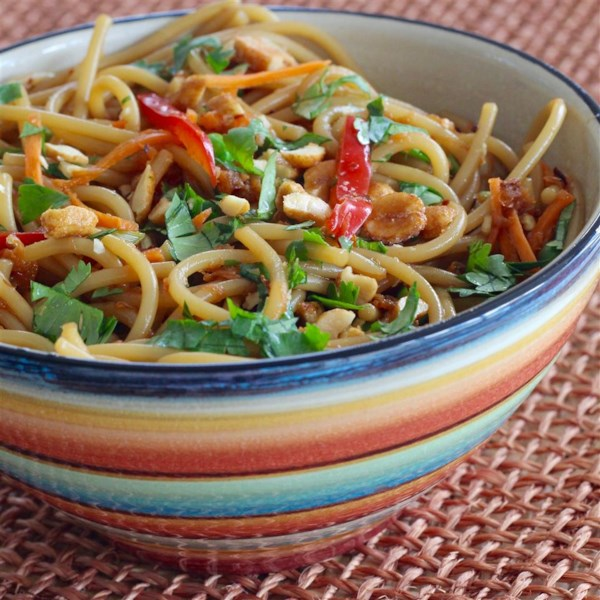 thai inspired noodle salad photos