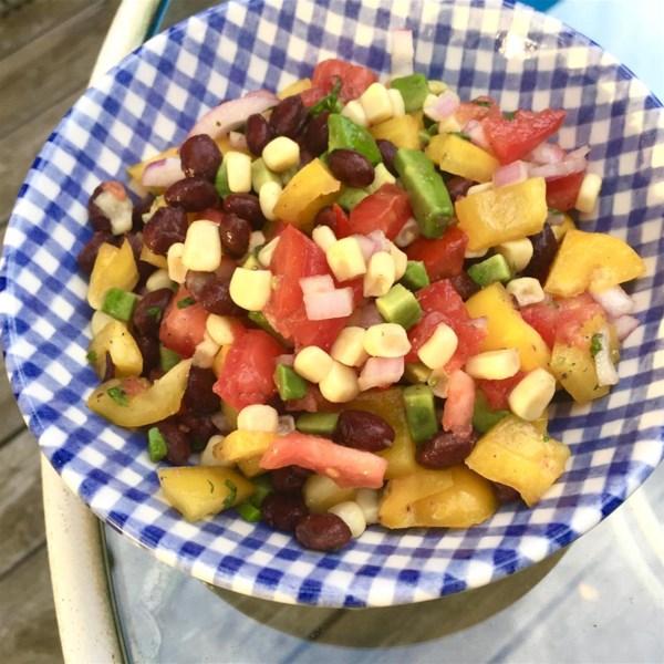 black bean avocado salsa photos