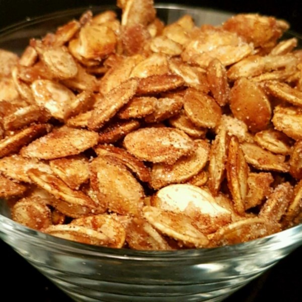 toasted pumpkin seeds with sugar and spice photos