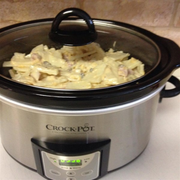 slow cooker scalloped potatoes with ham photos