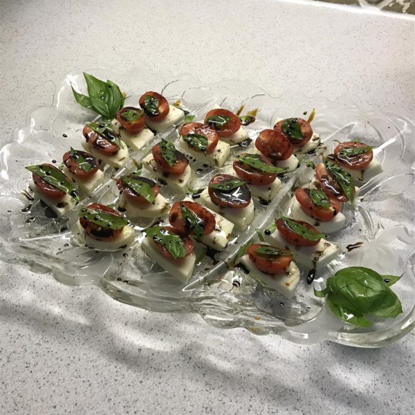 caprese salad with balsamic reduction photos