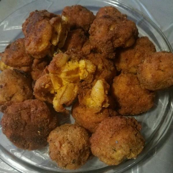 fried mac and cheese balls photos