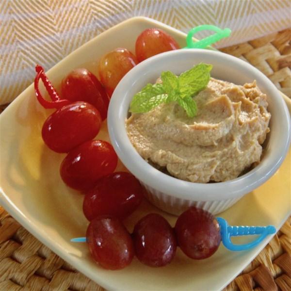 spiced peanut butter yogurt dip photos