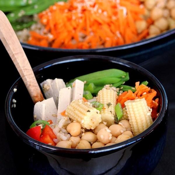 brown rice buddha bowl photos