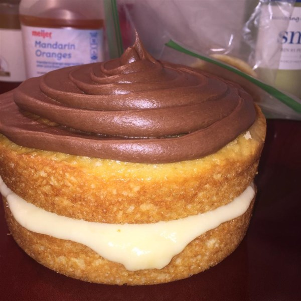 easy custard cake filling photos