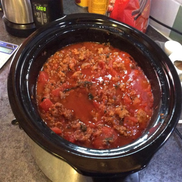 meat lovers slow cooker spaghetti sauce photos