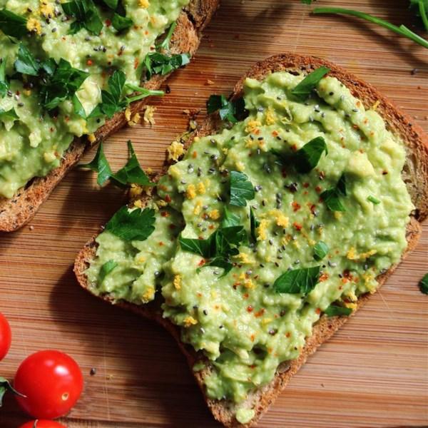 meyer lemon avocado toast photos