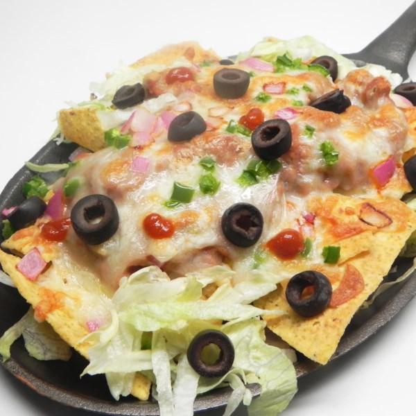 aarons famous vegetarian nachos photos