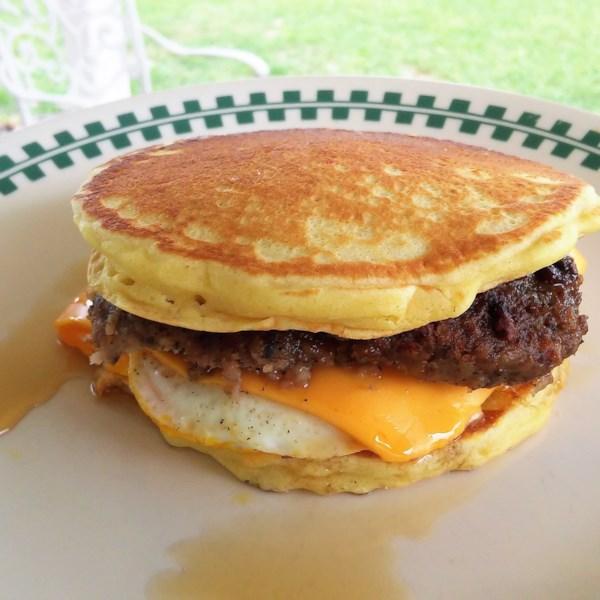 leftover pancake breakfast sandwich photos