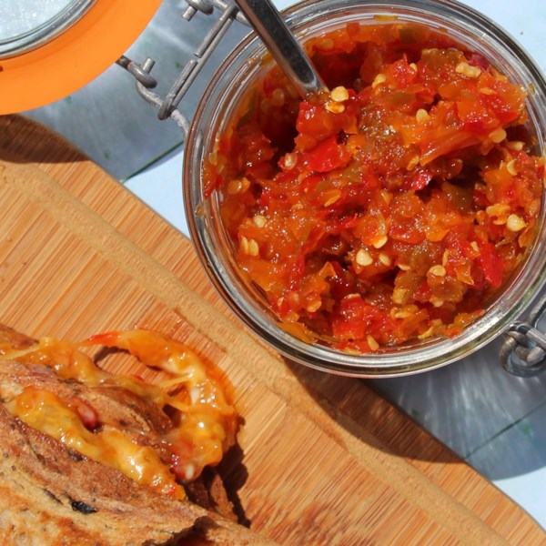 sweet and spicy pepper relish photos