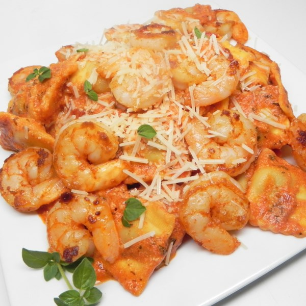 ravioli with shrimp rose sauce photos