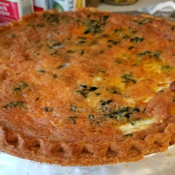 light and fluffy spinach quiche photos