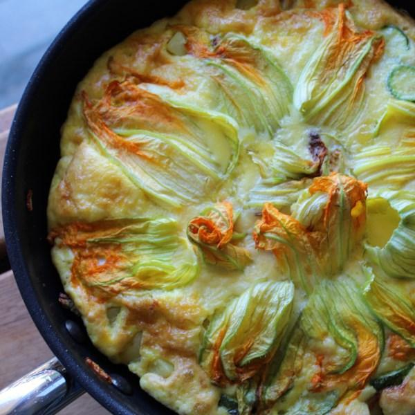 frittata di zucchine e fiori di zucca italian zucchini frittata photos