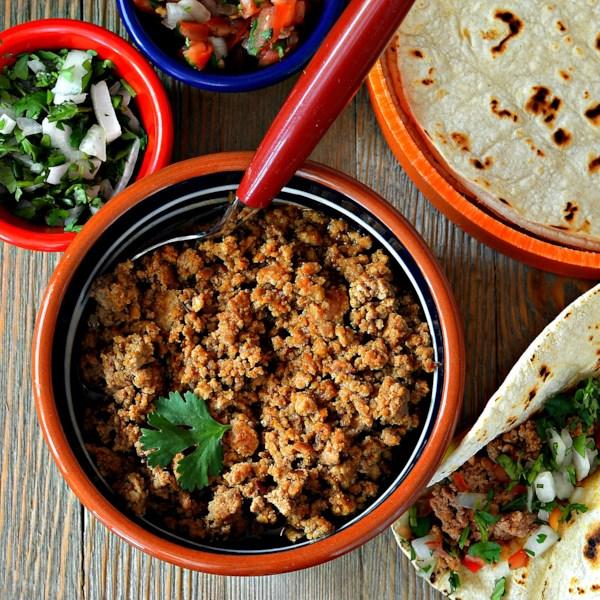 camerons ground turkey salsa ranchera for tacos and burritos