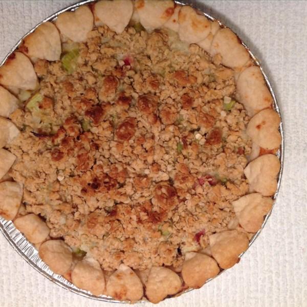 rhubarb sour cream pie photos