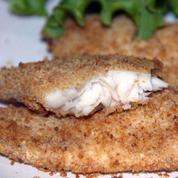 air fried crumbed fish photos