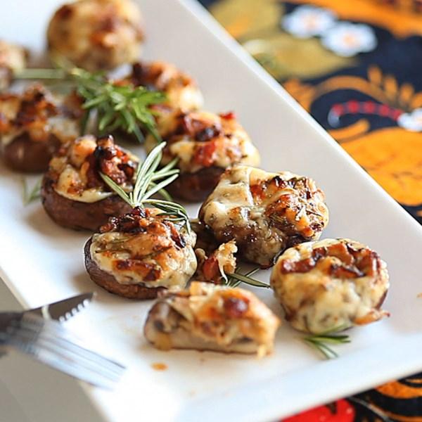 bacon rosemary stuffed mushrooms photos