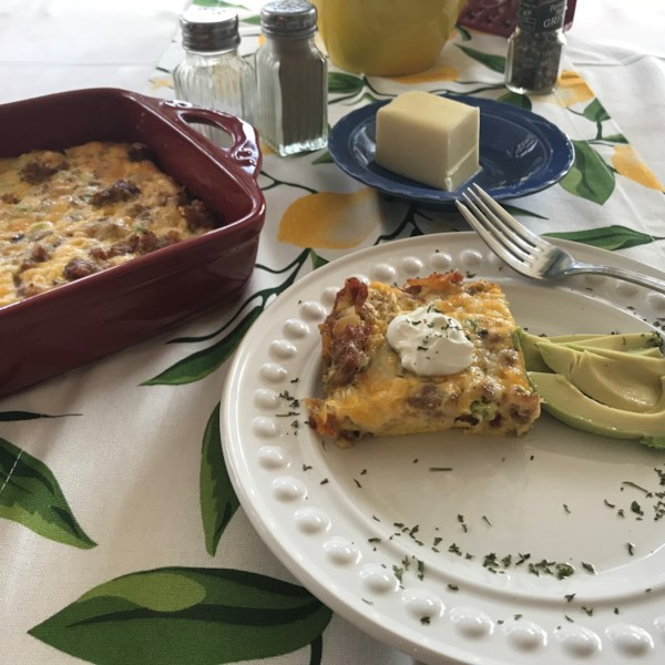 rebekahs keto egg casserole photos