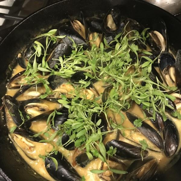 thai steamed mussels photos