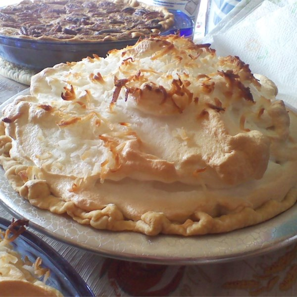 Coconut Marshmallow Cream Meringue Pie Photos Allrecipes Com