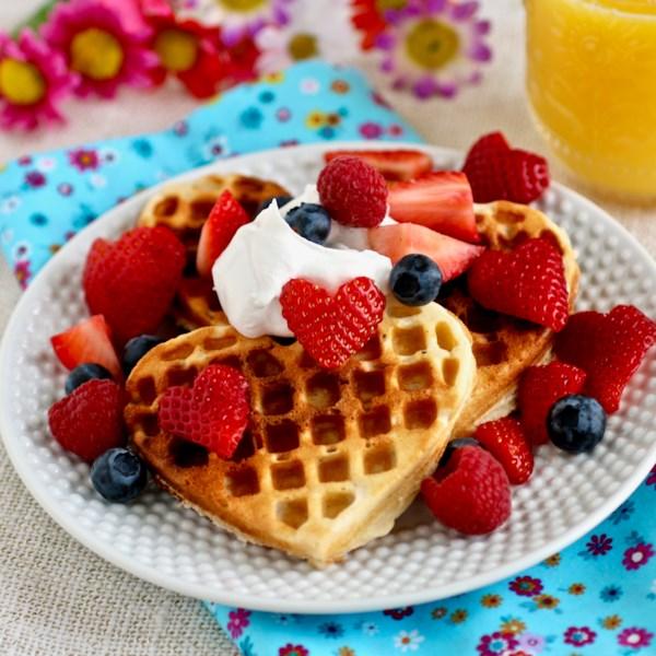 scandinavian sweetheart waffles photos