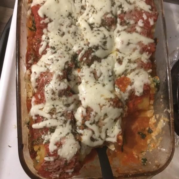 spinach lasagna roll ups photos