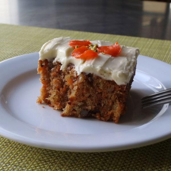 chef johns carrot cake photos