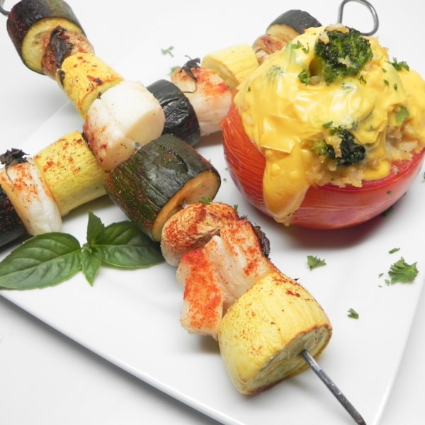 mamitas mojito scallop kabobs with stuffed tomatoes photos