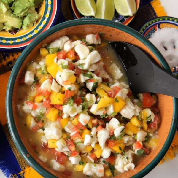 mexican mango and white fish ceviche photos
