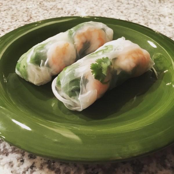 thai basil rolls with hoisin peanut sauce photos