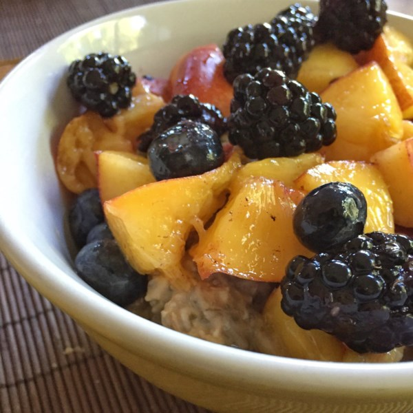 vegan overnight oats with chia seeds and fruit photos