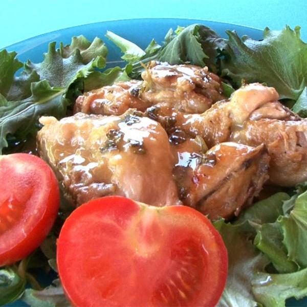pollo al ajillo spanish garlic chicken photos