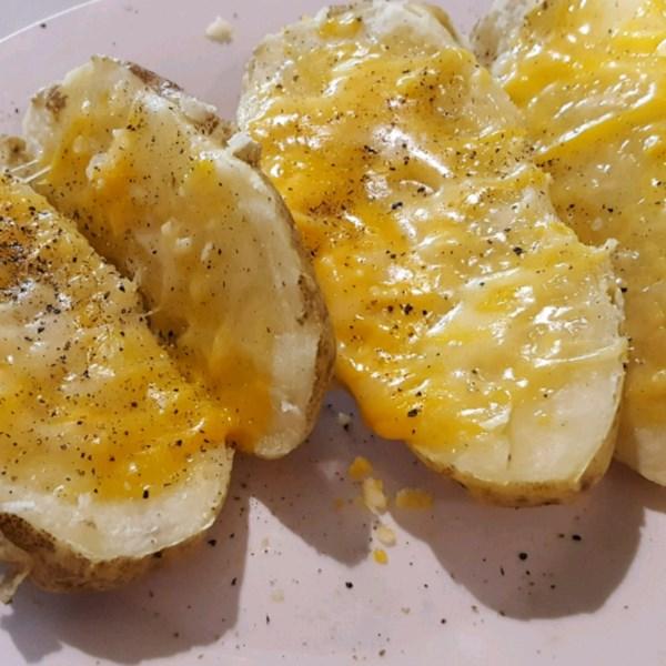 microwave baked potato photos