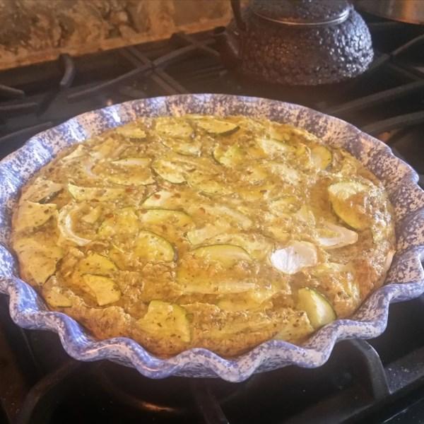 baked italian egg zucchini and scallion frittata photos
