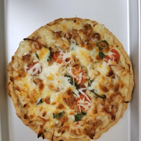 white pizza sauce photos