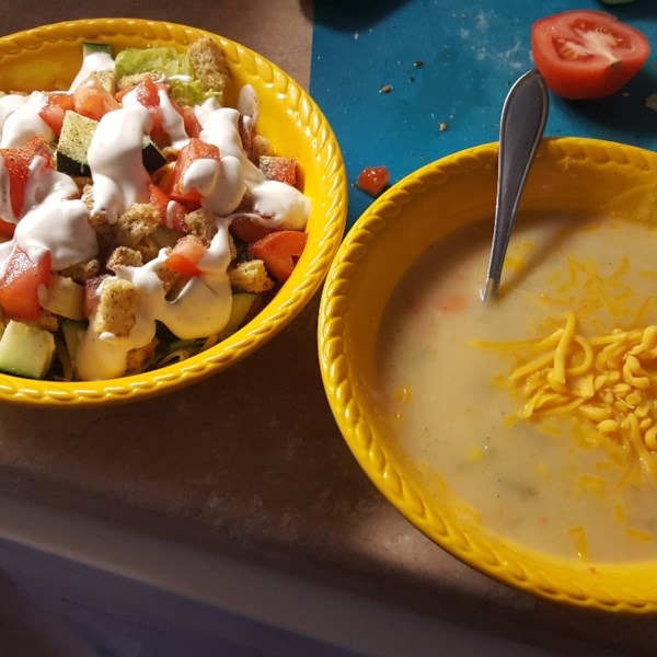 vegan potato soup photos