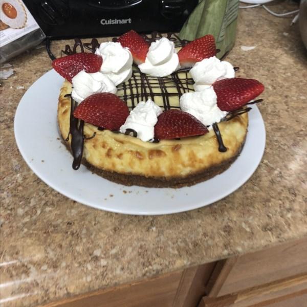 easy sour cream cheesecake photos