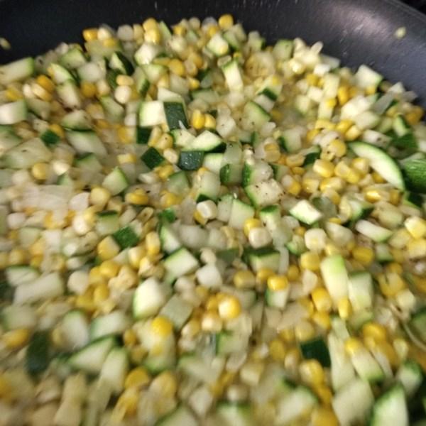 fresh corn and zucchini saute photos