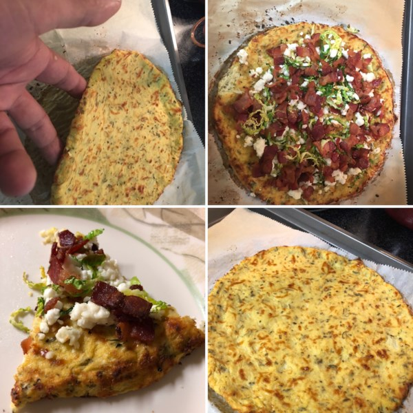 cheesy cauliflower pizza crust photos