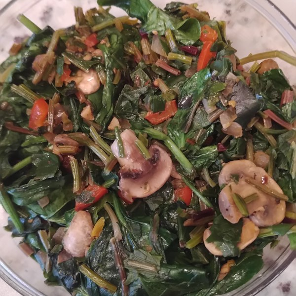 simple and delicious beet greens photos