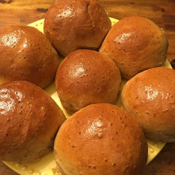 healthy whole wheat bread machine buns photos