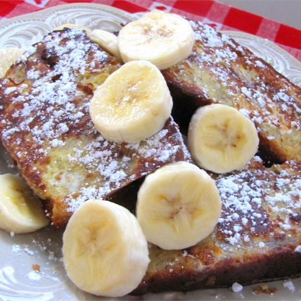 banana bread french toast photos
