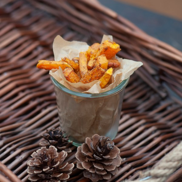 chinese five spice air fryer butternut squash fries photos