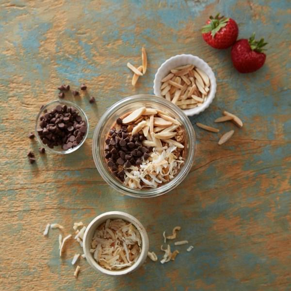 joyful chocolate overnight oats photos