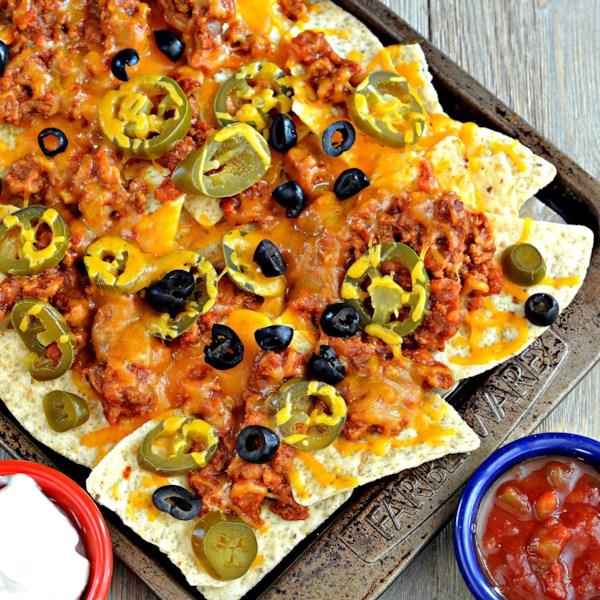 sheet pan nachos photos