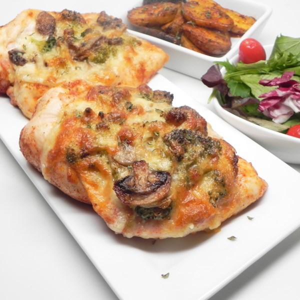 mushroom broccoli and cheese stuffed chicken photos