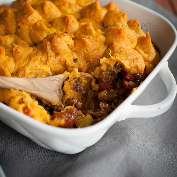 autumn sweet potato shepherds pie photos