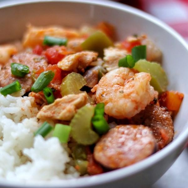 instant pot r jambalaya with shrimp and chicken photos