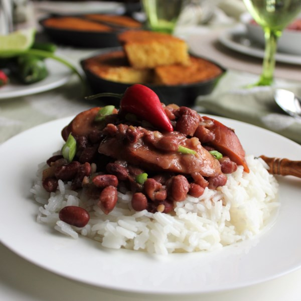 authentic louisiana red beans and rice photos